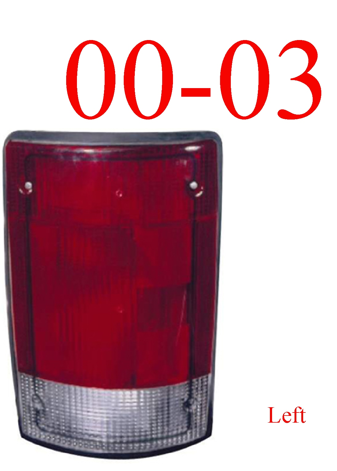 00-03 Ford Excursion Left Tail Light Assembly