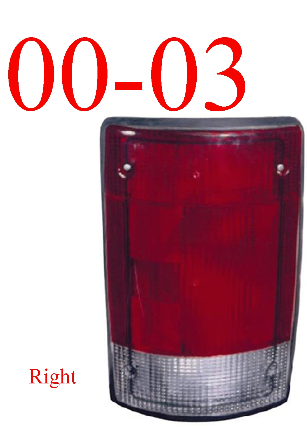 00-03 Ford Excursion Right Tail Light Assembly