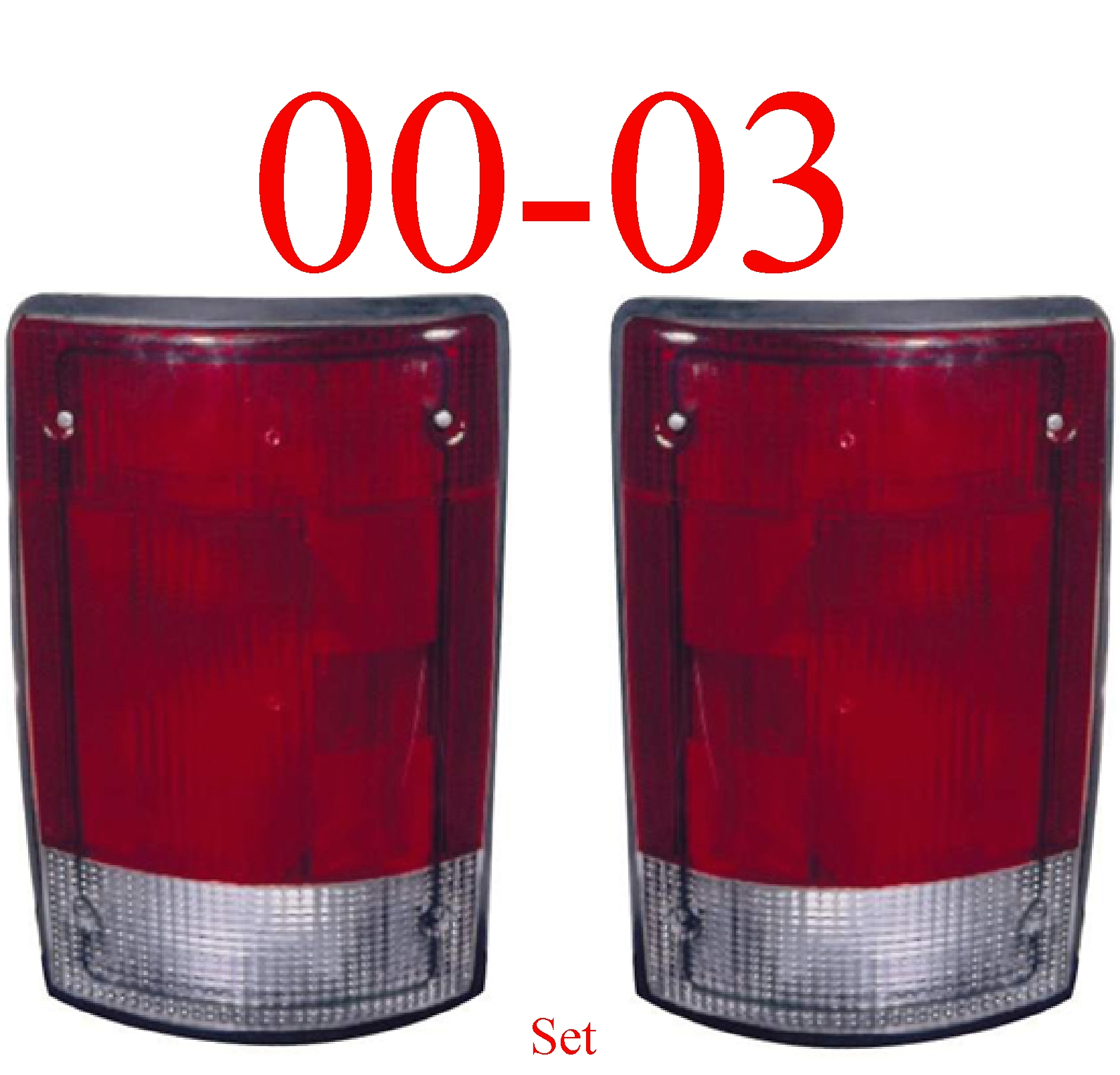 00-03 Ford Excursion Left & Right Tail Light Set