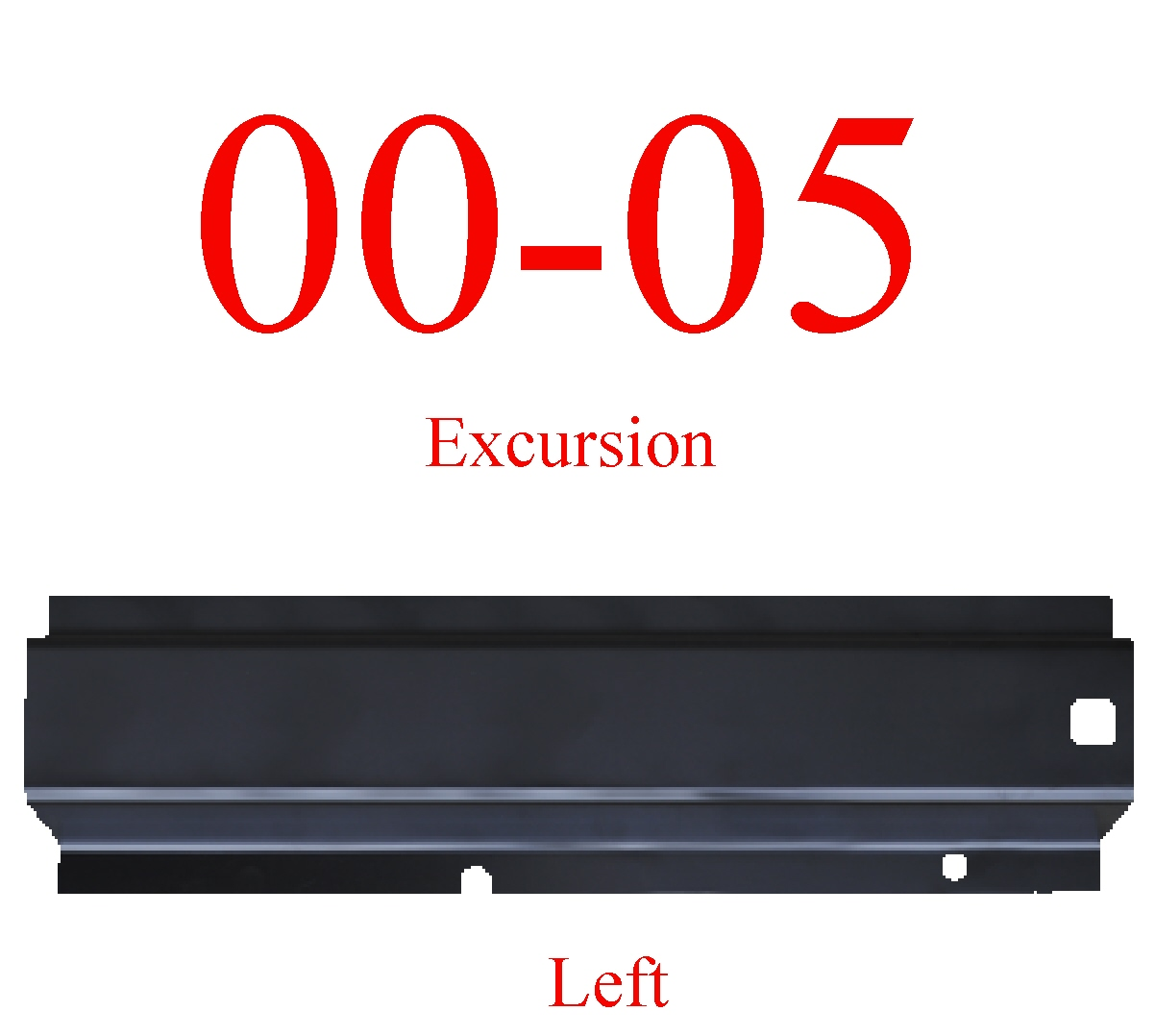 00-05 Excursion Left Rear Rocker Panel
