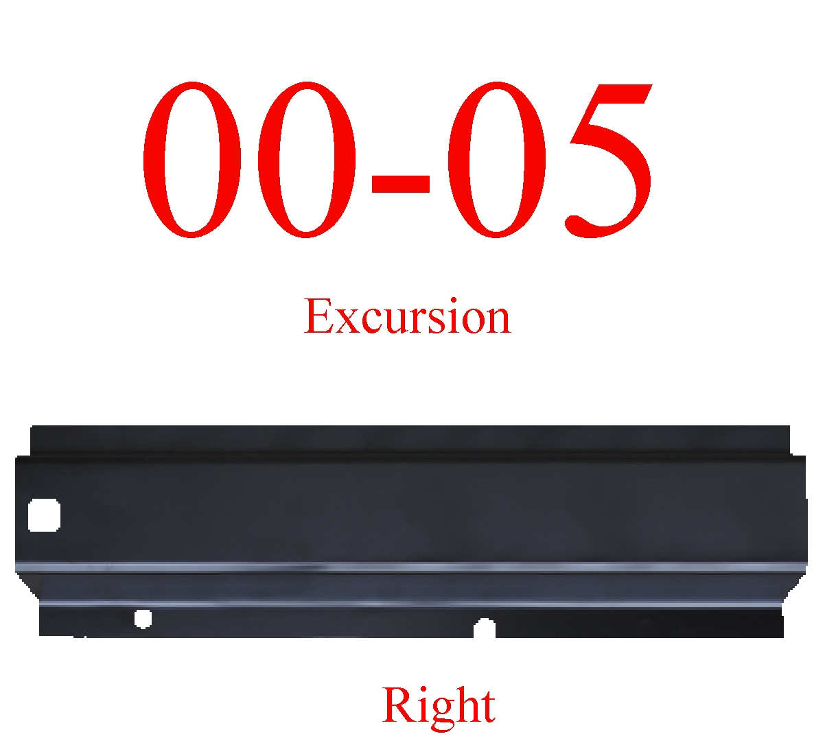 00-05 Excursion Right Rear Rocker Panel