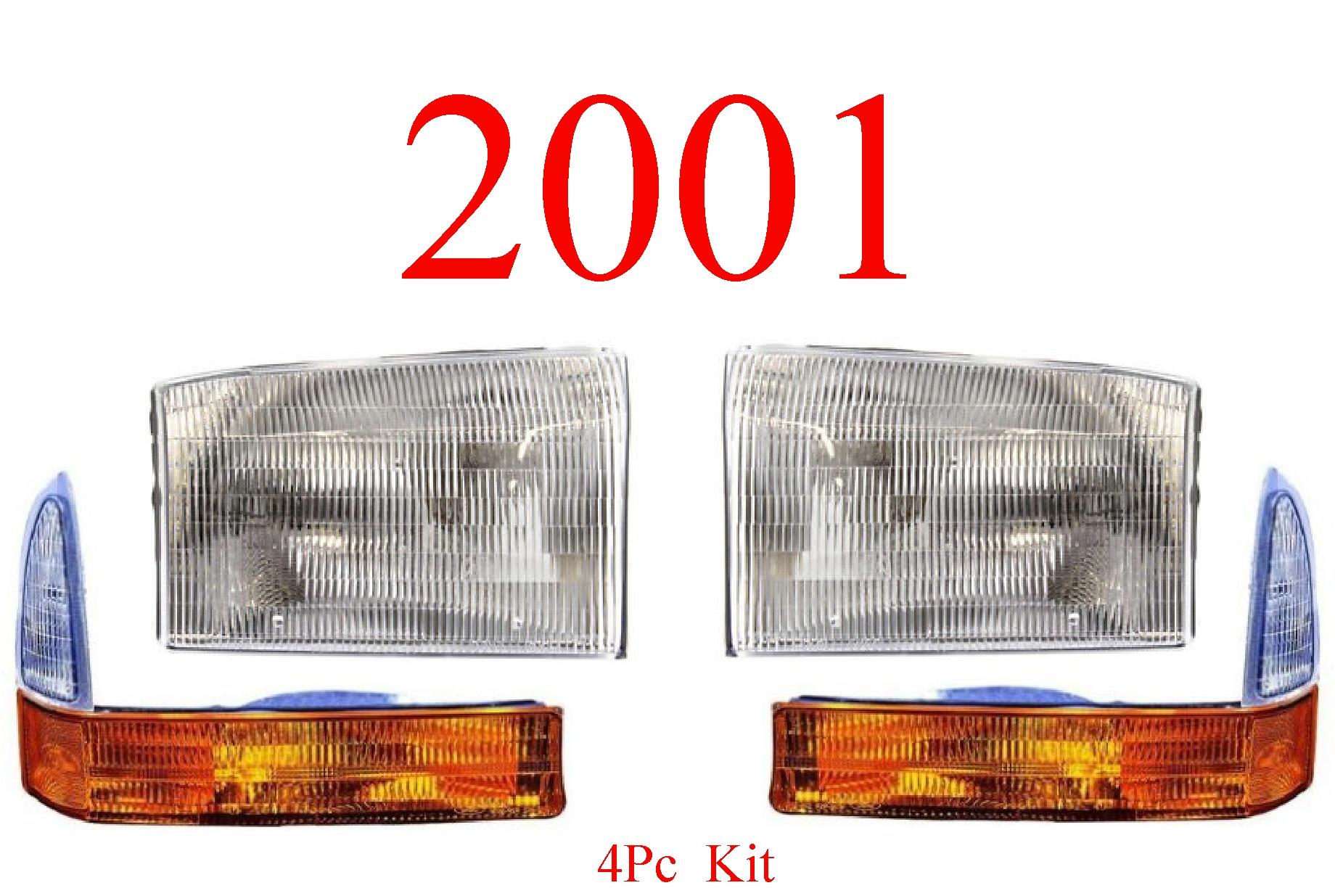 01 Ford Excursion 4Pc Head & Park Light Kit
