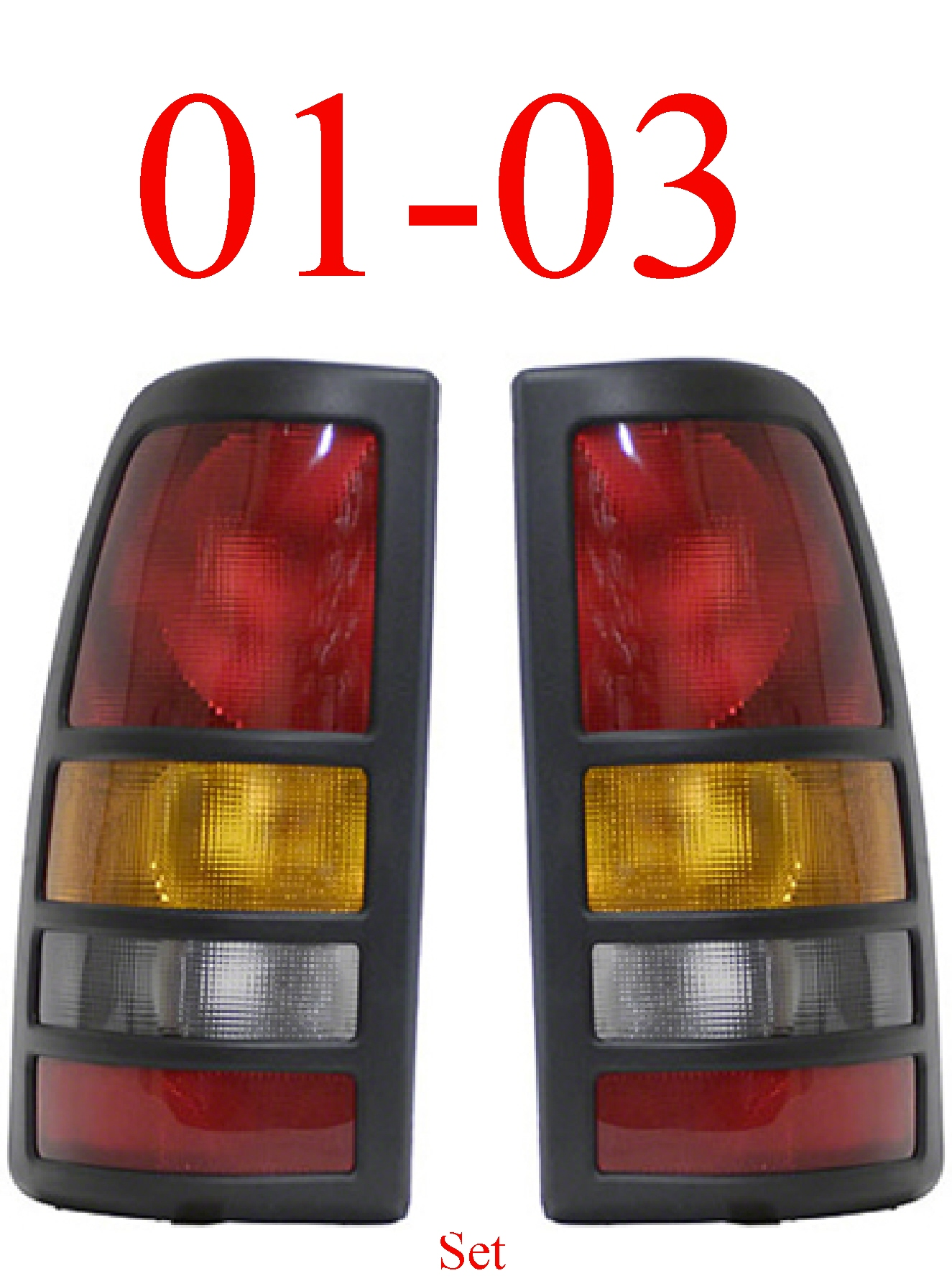01-03 Chevy GMC Dually Left & Right Tail Light Set