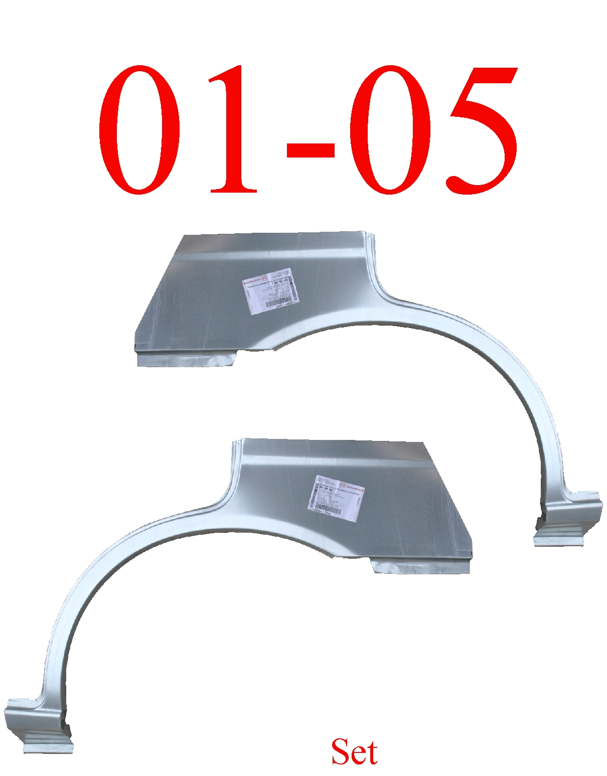 01-05 Honda Civic Sedan Upper Arch & Dog Leg Set