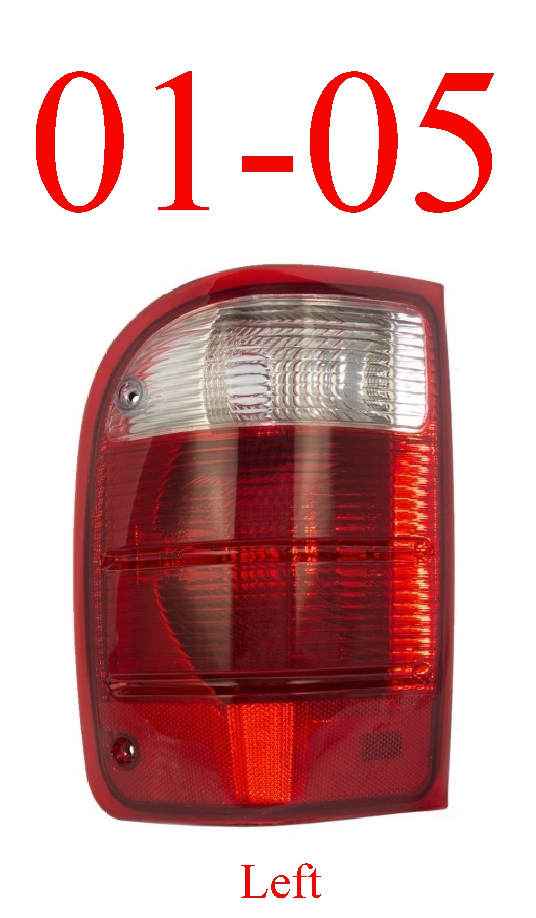 01-05 Ranger Left Tail Light Assembly