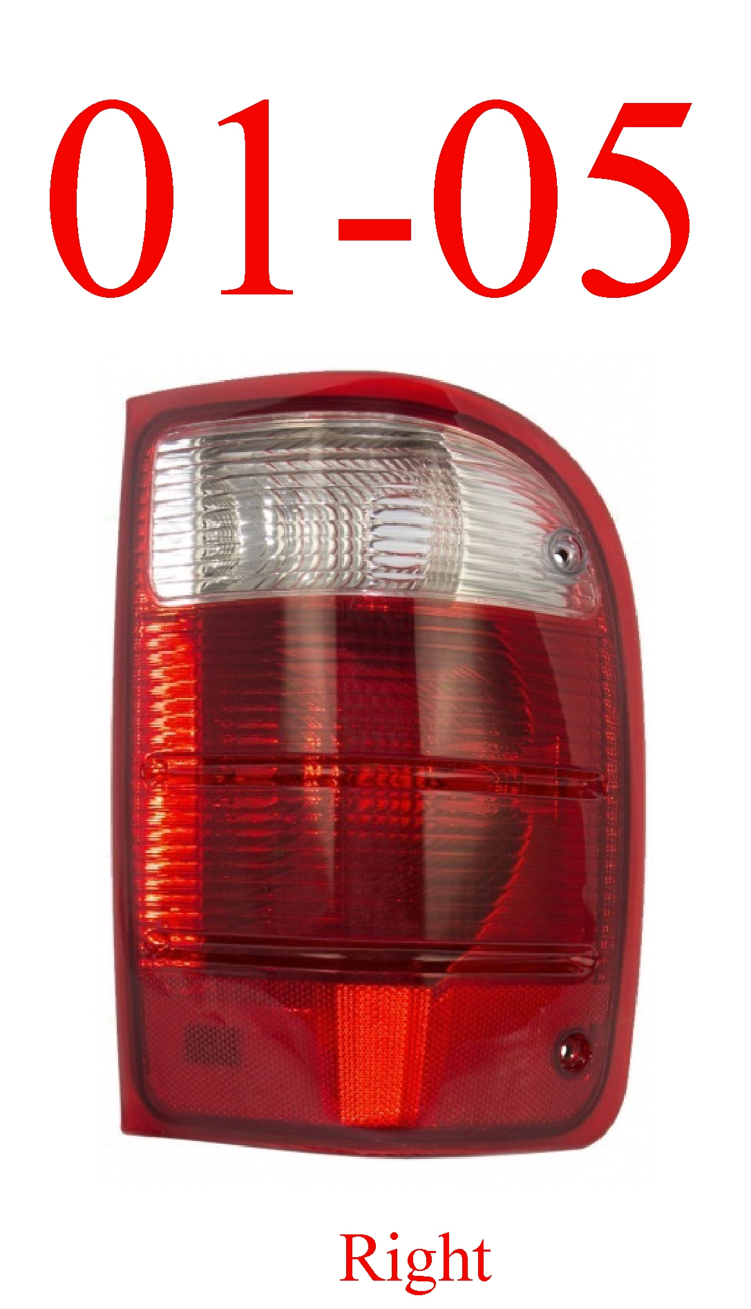 01-05 Ranger Right Tail Light Assembly