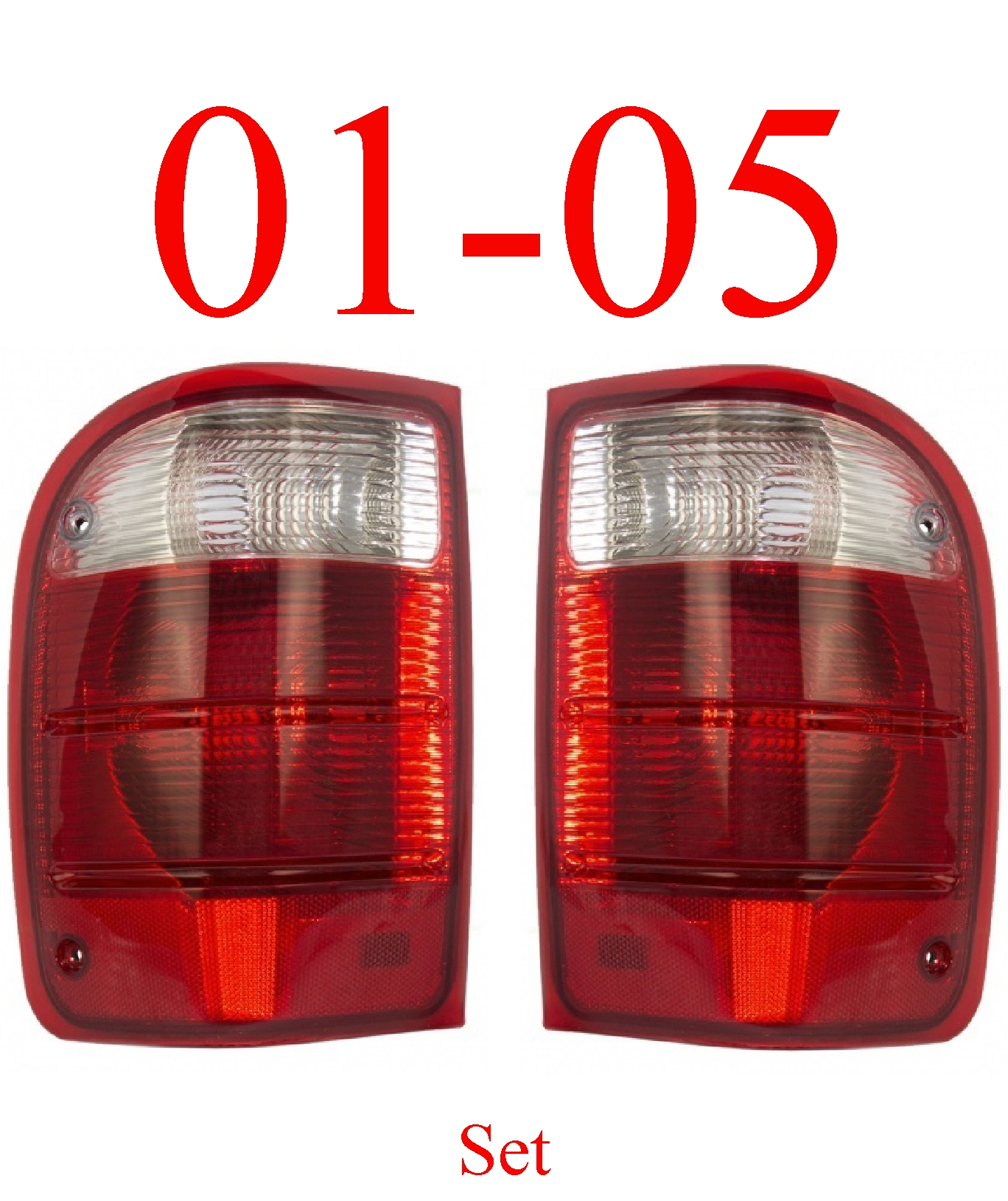 01-05 Ranger Tail Light Set L&R Assembly