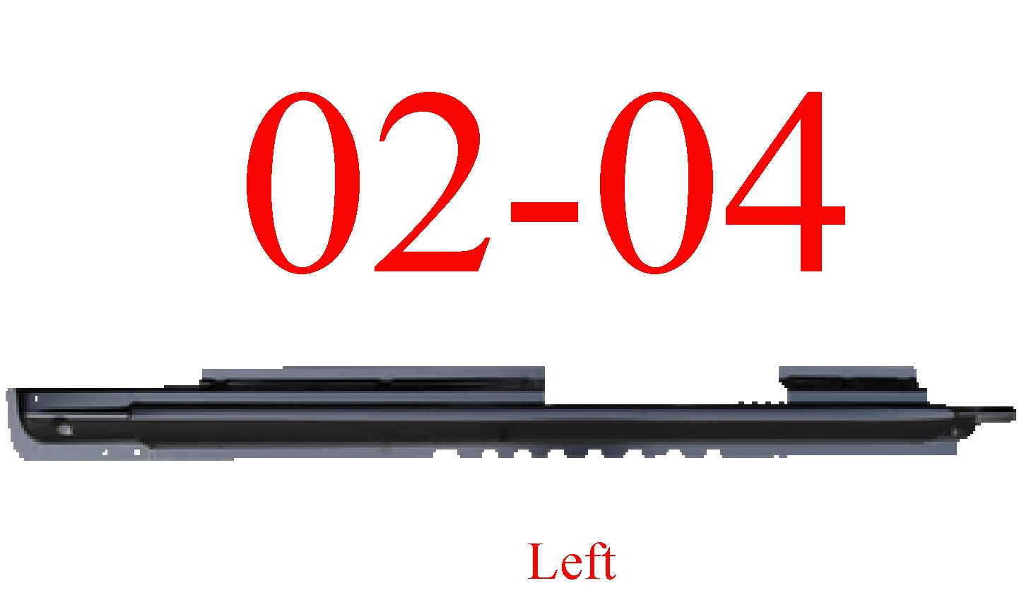 02-04 Jeep Liberty Left Extended Rocker Panel
