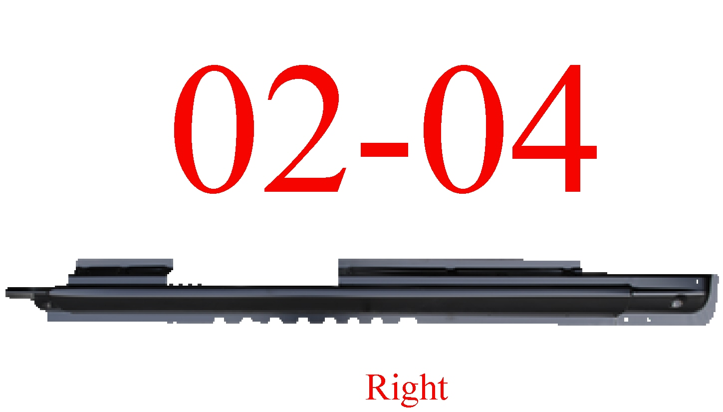 02-04 Jeep Liberty Right Extended Rocker Panel