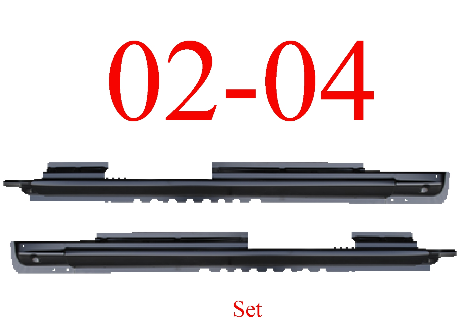 02-04 Jeep Liberty Extended Rocker Panel Set