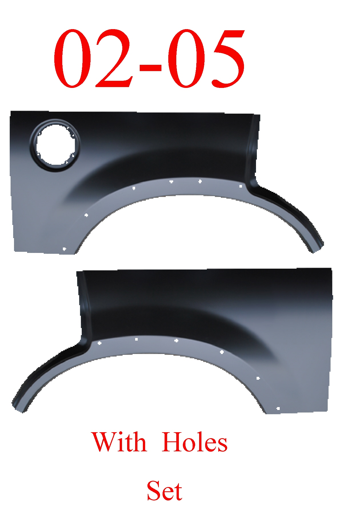 02-05 With Holes, Ford Explorer Upper Arch Set