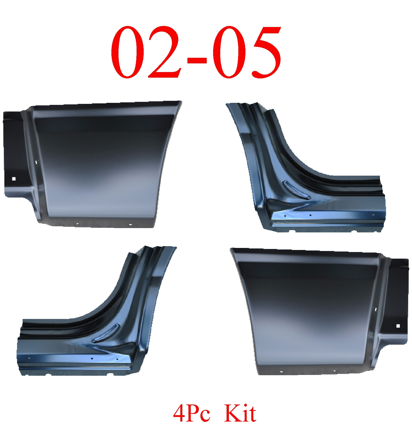 02-05 Ford Explorer 4Pc Lower Quarter Patch Set & Dog Leg Set