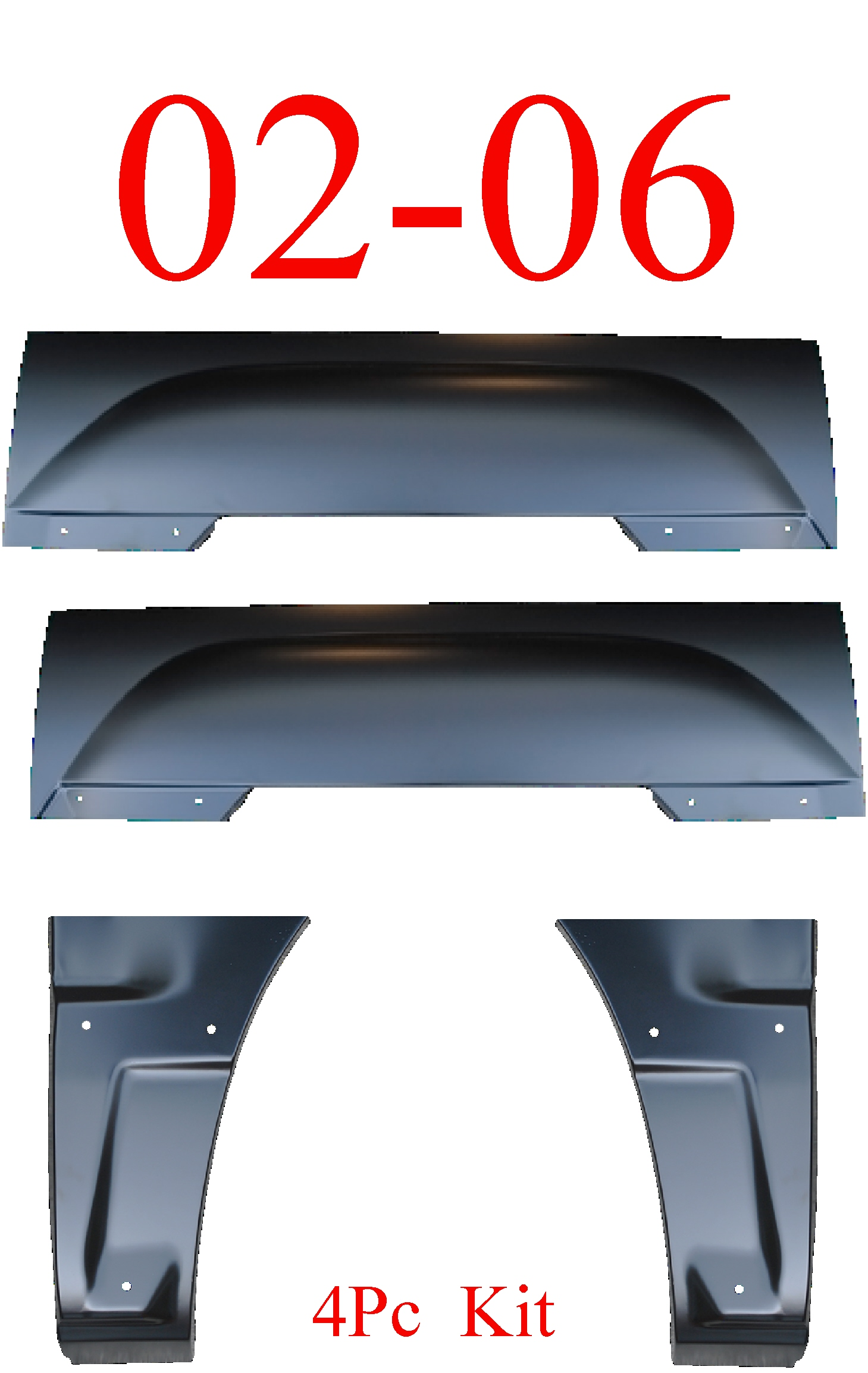02-06 Chevy Avalanche 4Pc Arch & Dog Leg Kit