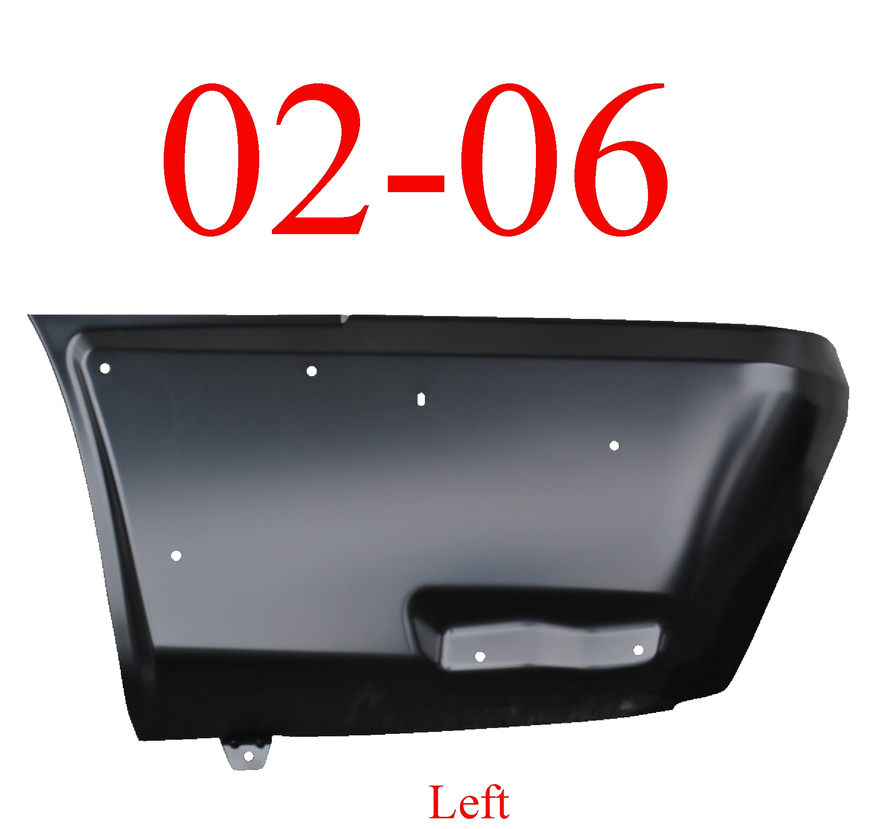 02-06 Chevy Avalanche Left Rear Lower Quarter Panel W/Cladding