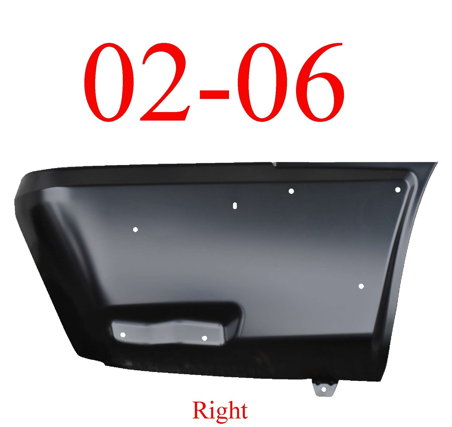 02-06 Chevy Avalanche Right Rear Lower Quarter Panel W/Cladding