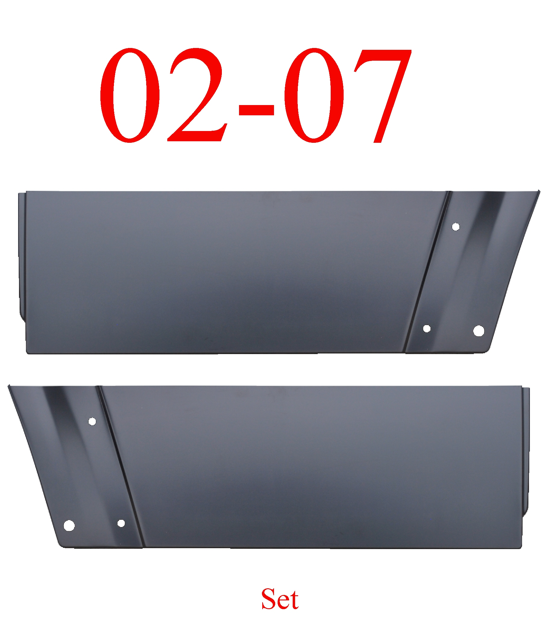 02-07 Jeep Liberty Rear Lower Door Skin Set