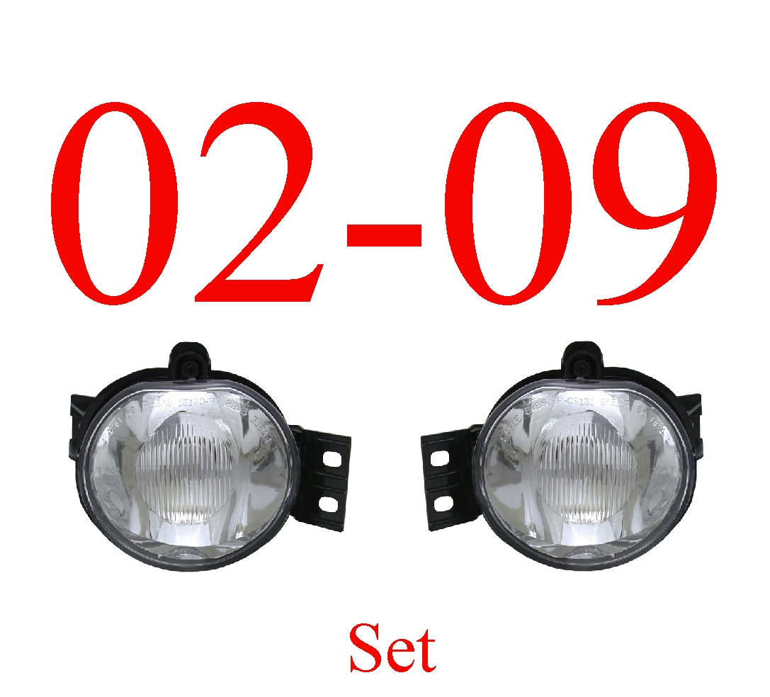 02-09 Dodge Fog Light Set Assembly