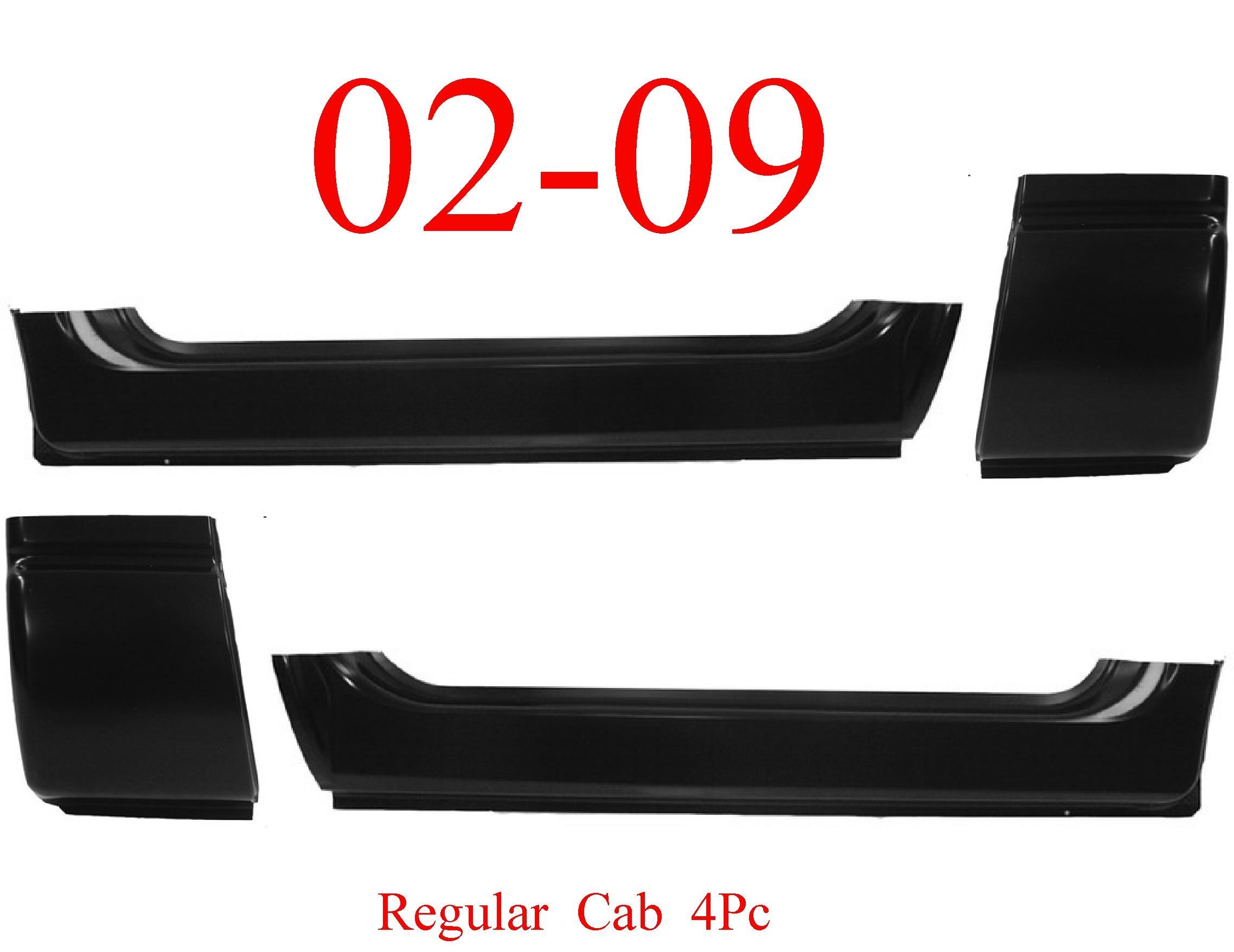 02-09 Dodge Ram 4Pc Extended Rocker & Cab Corner Set