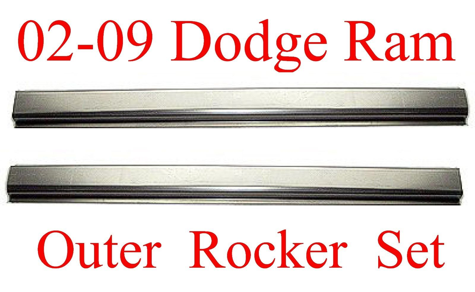 02-09 Dodge Quad Cab Outer Rocker Panel Set