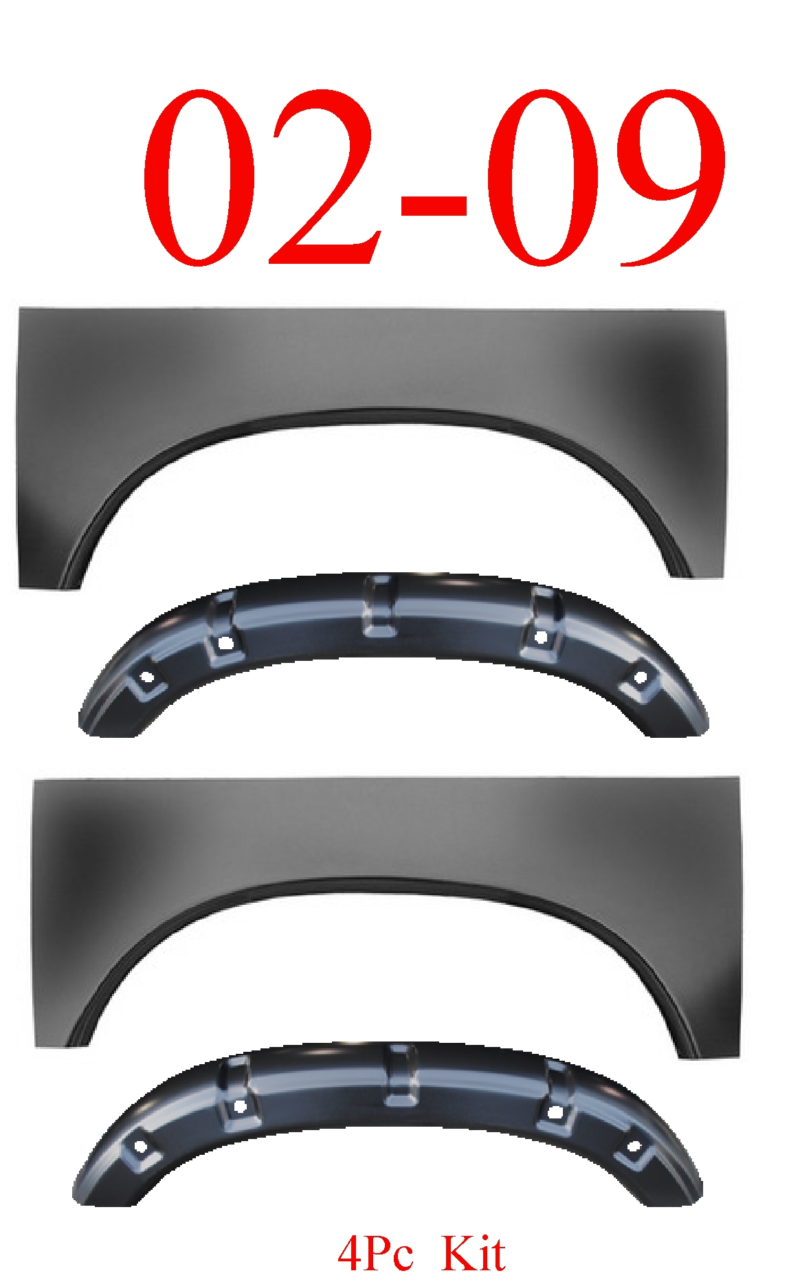02-09 Dodge Ram 4Pc Arch & Outer Wheelhouse Set