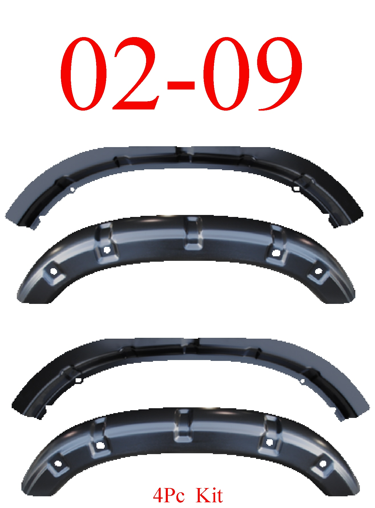 02-09 Dodge Ram 4Pc Inner & Outer Wheelhouse Arch Panel