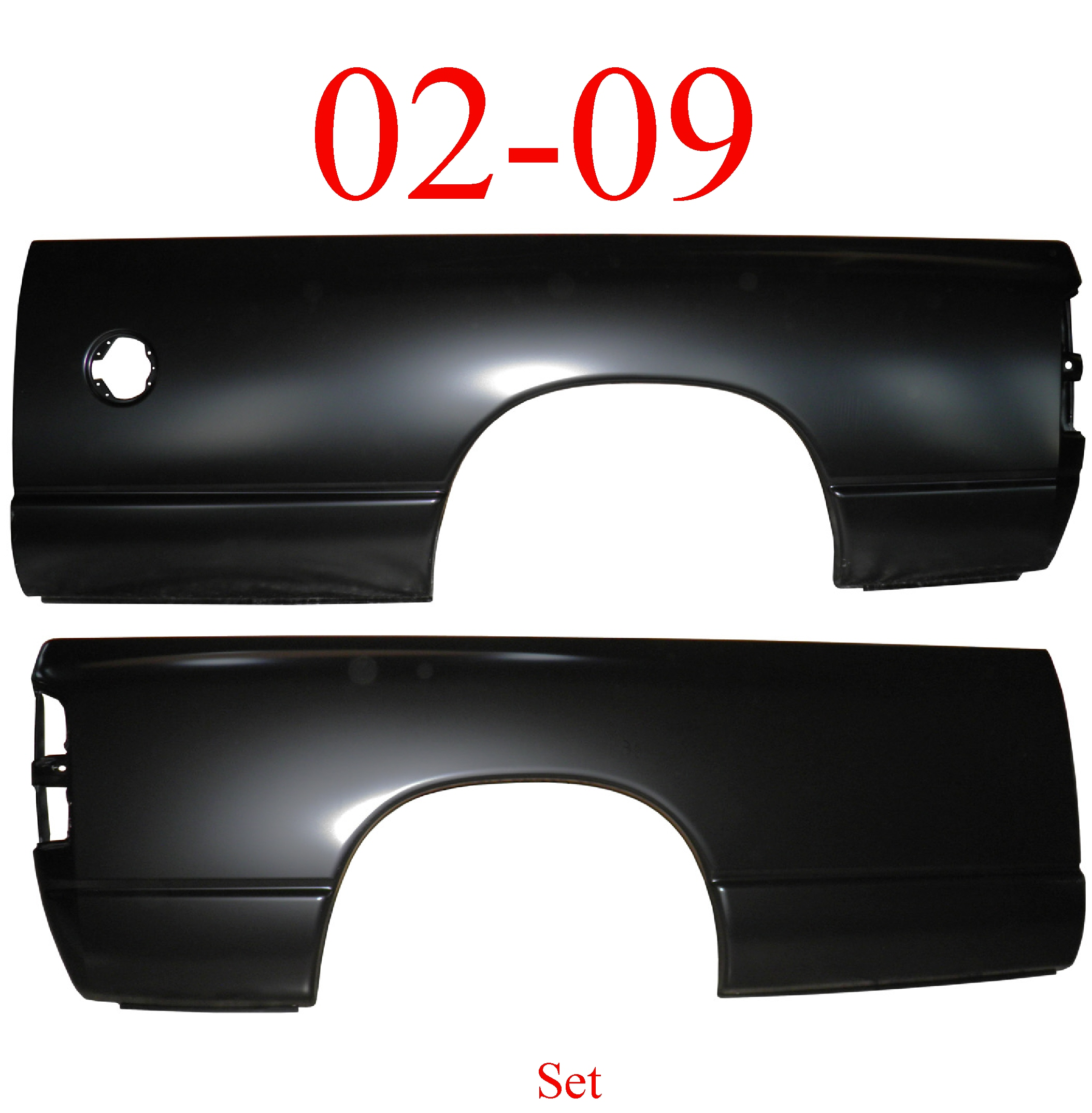 02-09 Dodge Ram 8' Long Bed Side Set, Both Sides