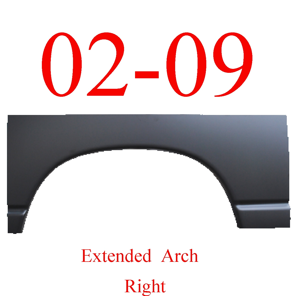 02-09 Dodge Ram Right Extended Wheel Arch Large