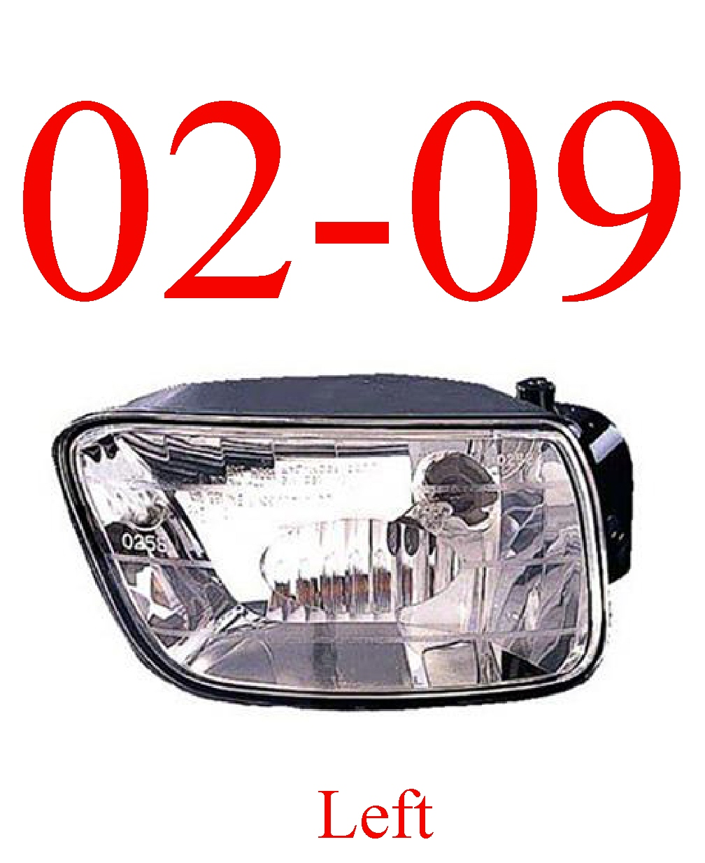 02-09 Trailblazer Left Fog Light Assembly