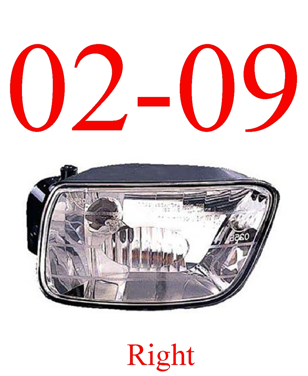 02-09 Trailblazer Right Fog Light Assembly