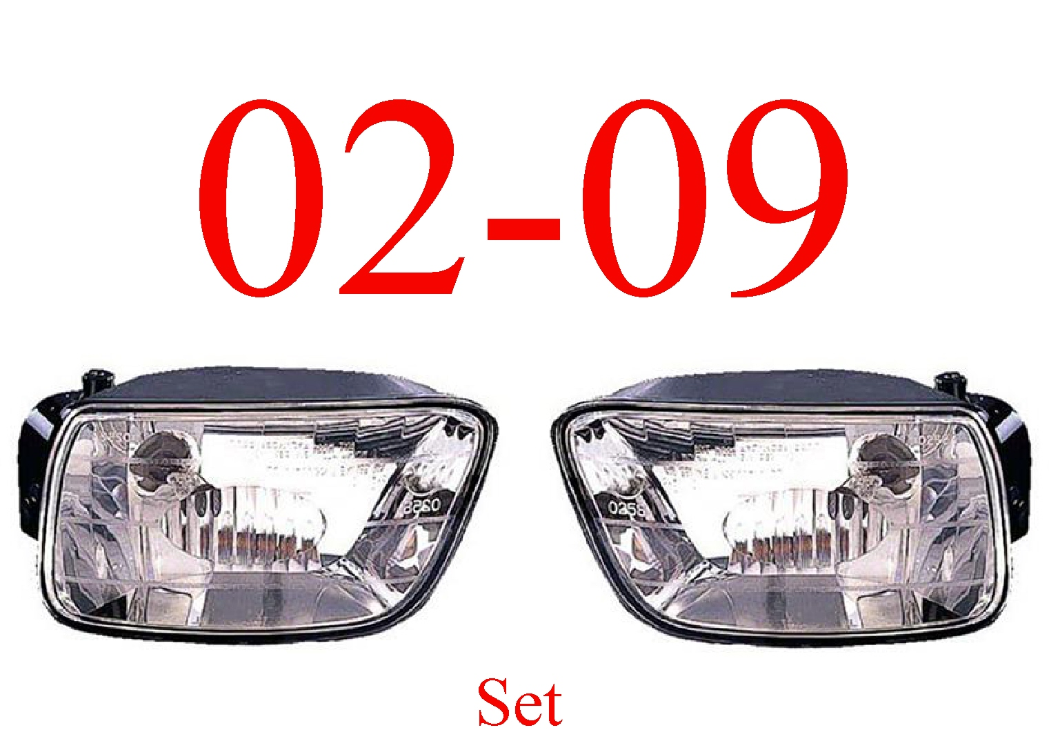 02-09 Trailblazer Fog Light Set, Assembly
