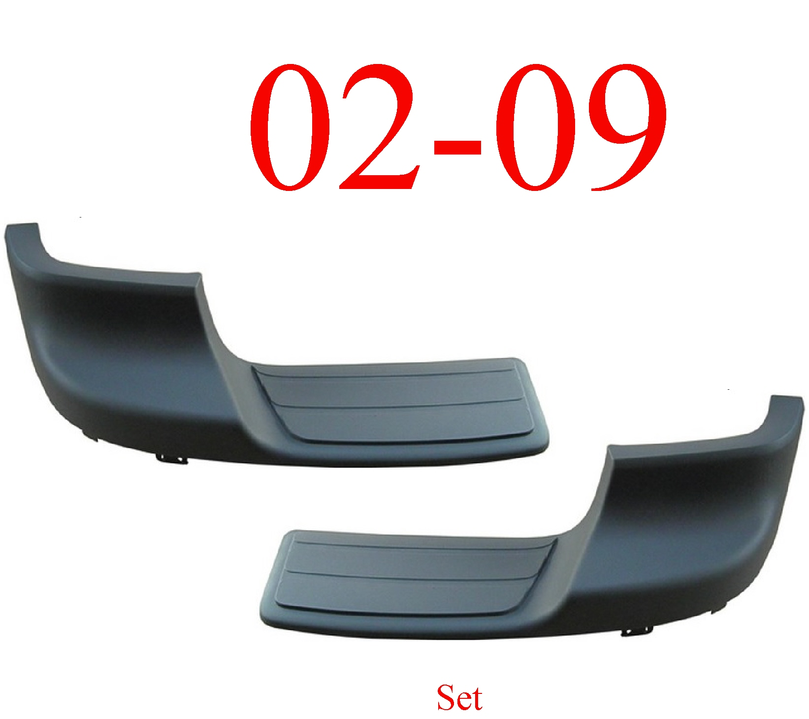 02-09 Chevy Trailblazer Rear Outer Step Pad Set
