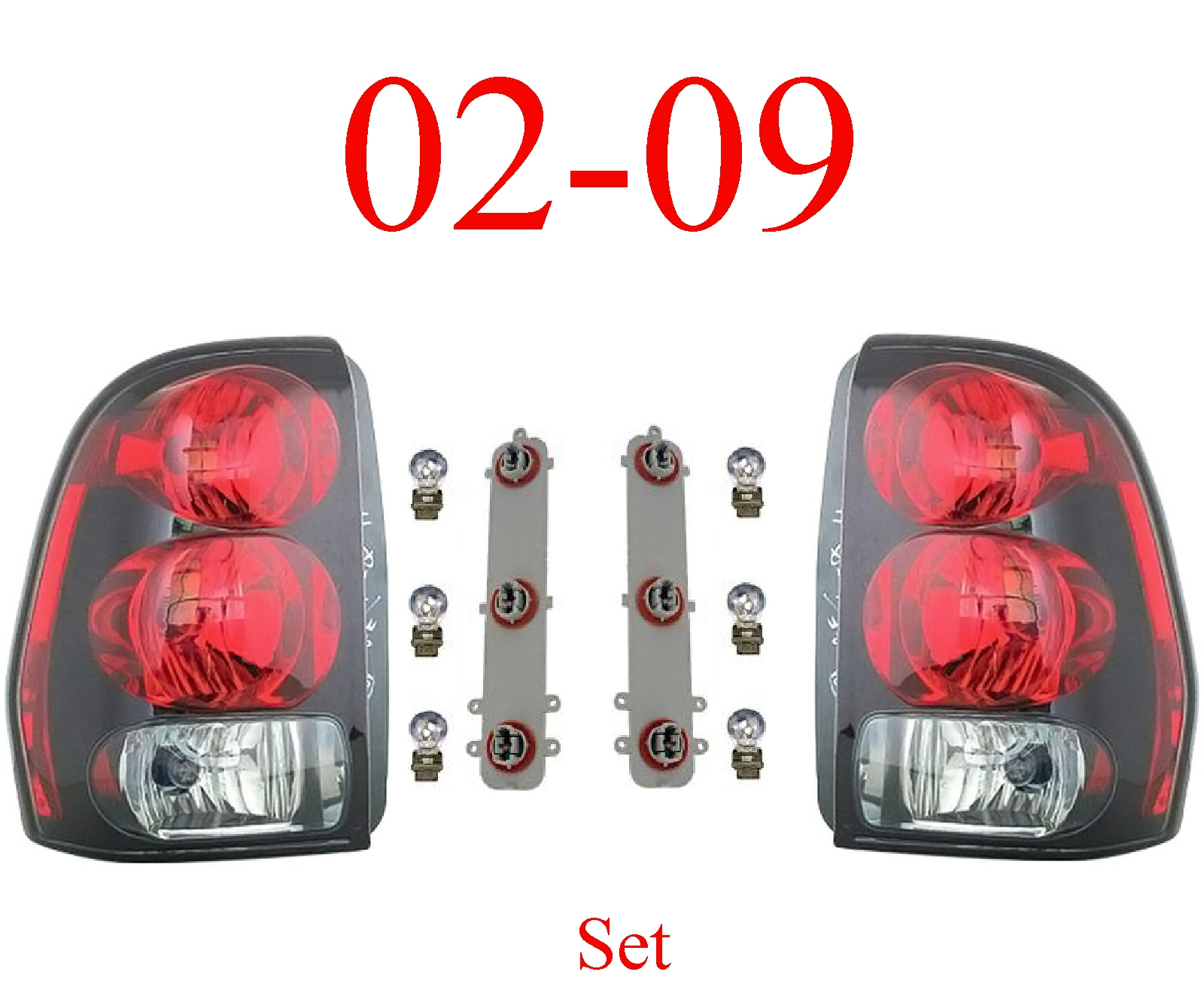 02-09 Trailblazer Tail Light Set, Assembly