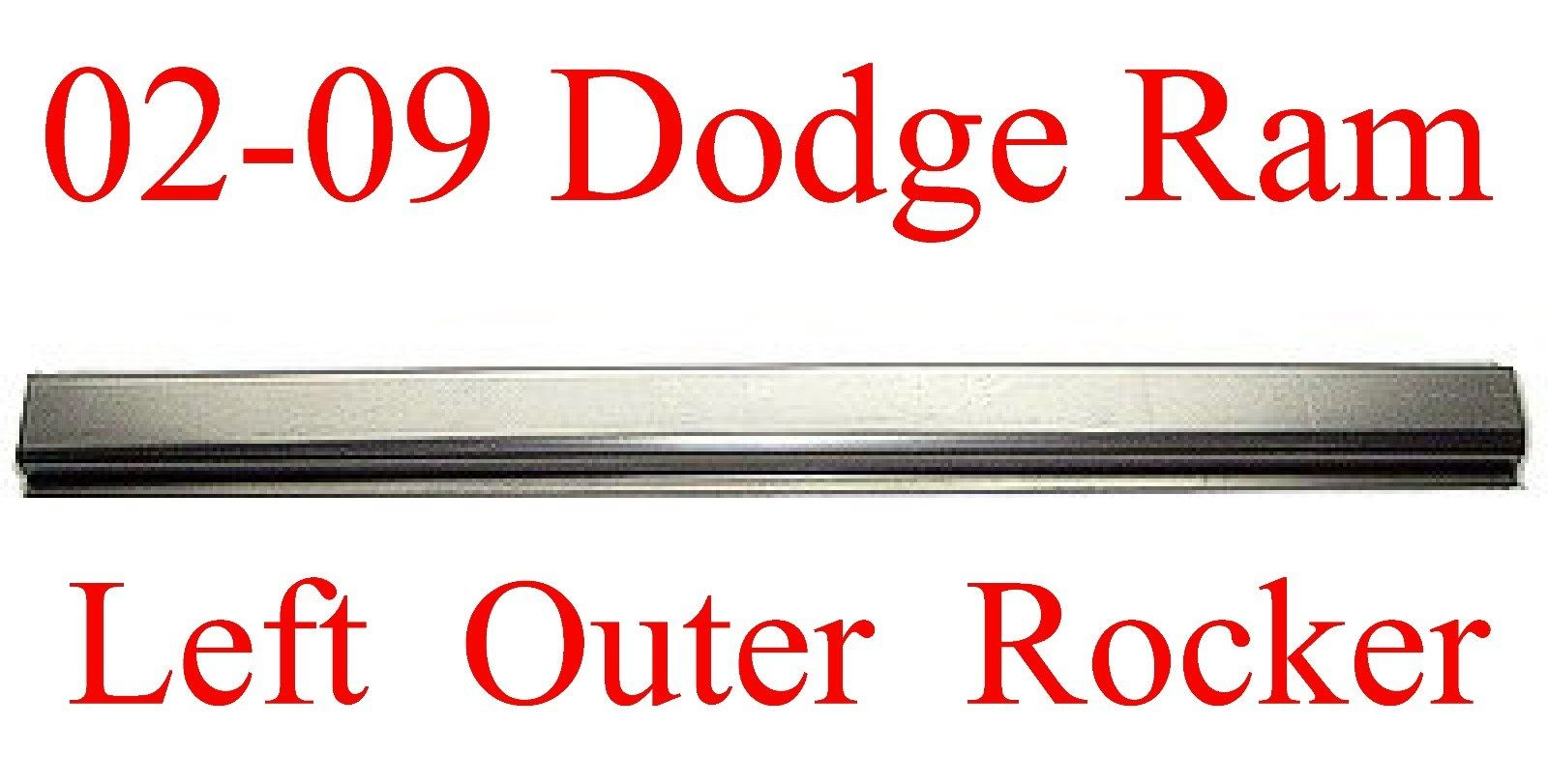 02-09 Left Dodge Quad Cab Outer Rocker Panel