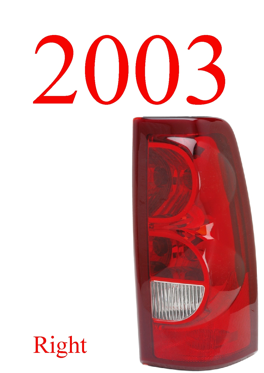 03 Chevy Right Tail Light, Silverado