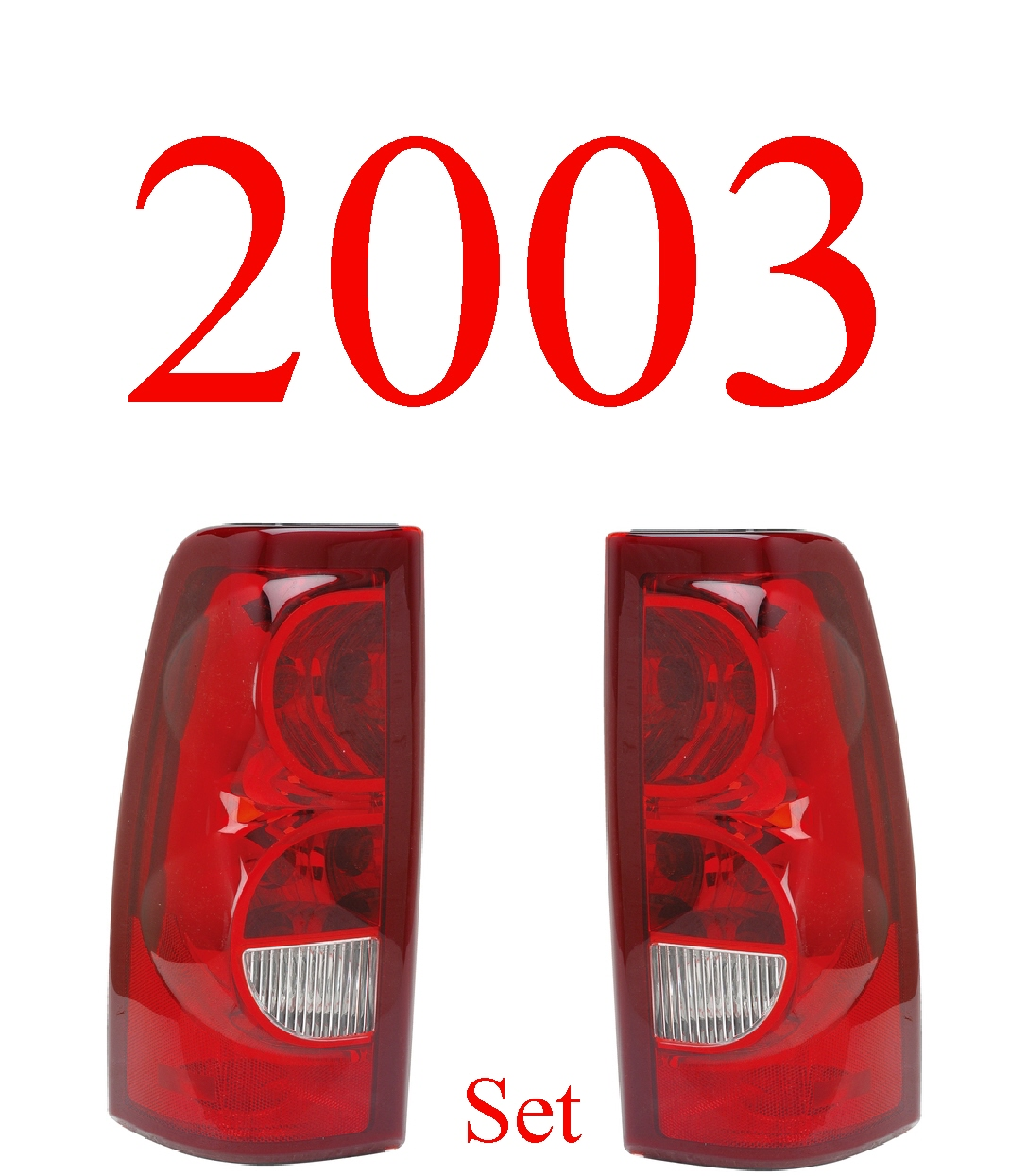 03 Chevy Tail Light Set, Silverado