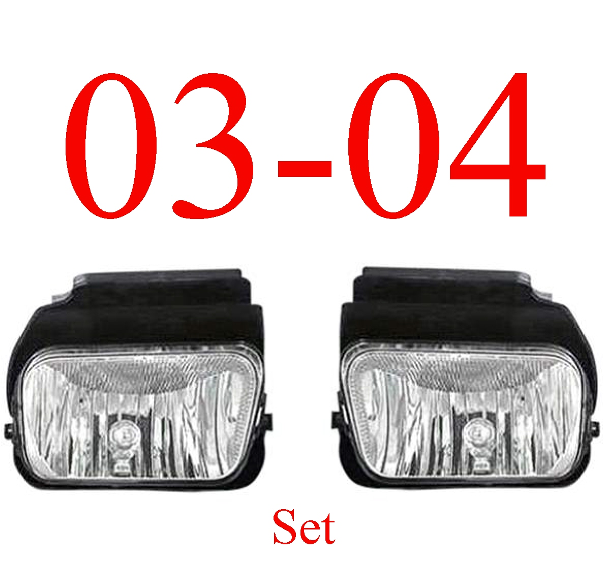 03-04 Chevy Fog Light Set, Silverado, Avalanche