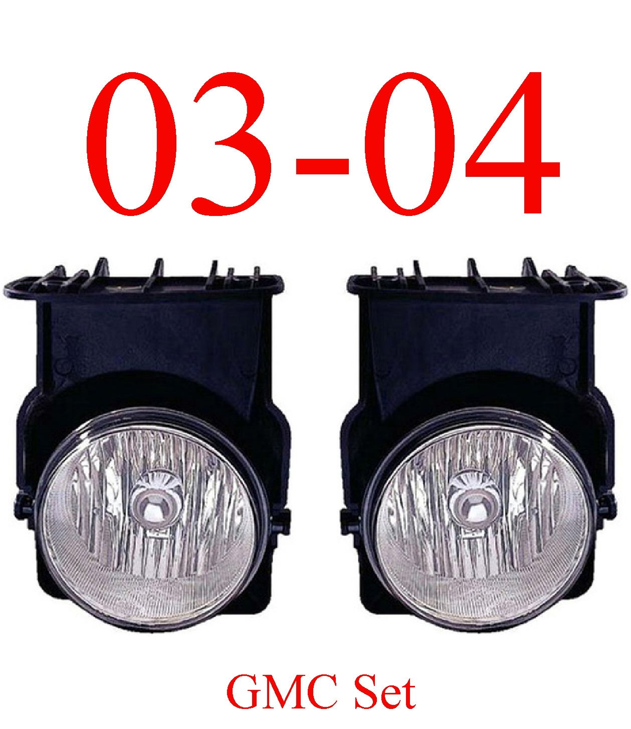 03-04 GMC Truck Fog Light Set