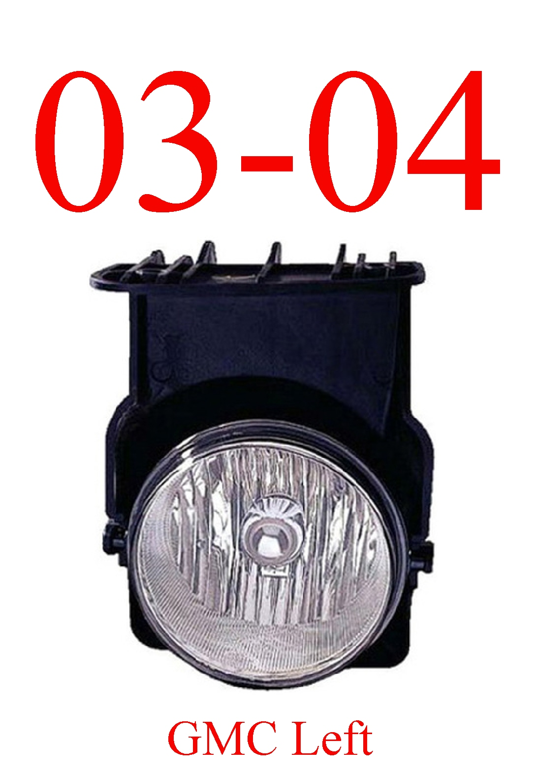 03-04 GMC Truck Left Fog Light Assembly