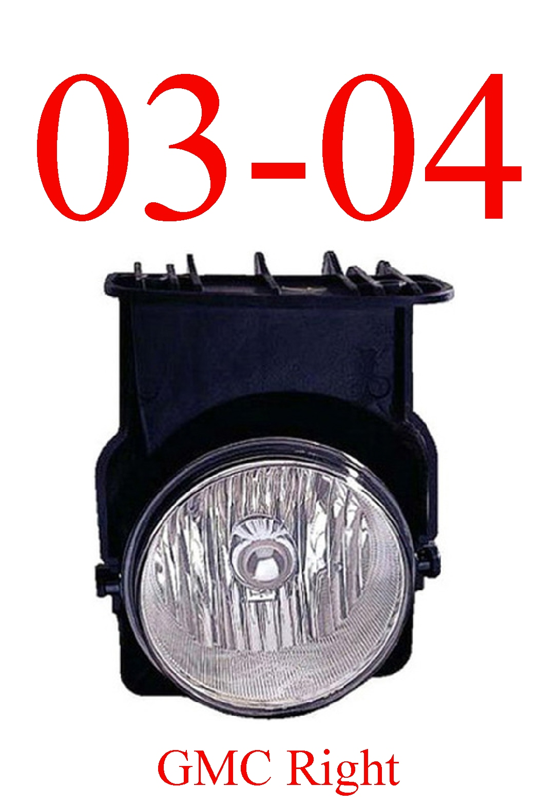 03-04 GMC Truck Right Fog Light Assembly