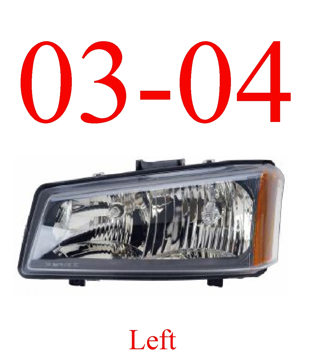 03-04 Chevy Left Head Light, Silverado, Avalanche