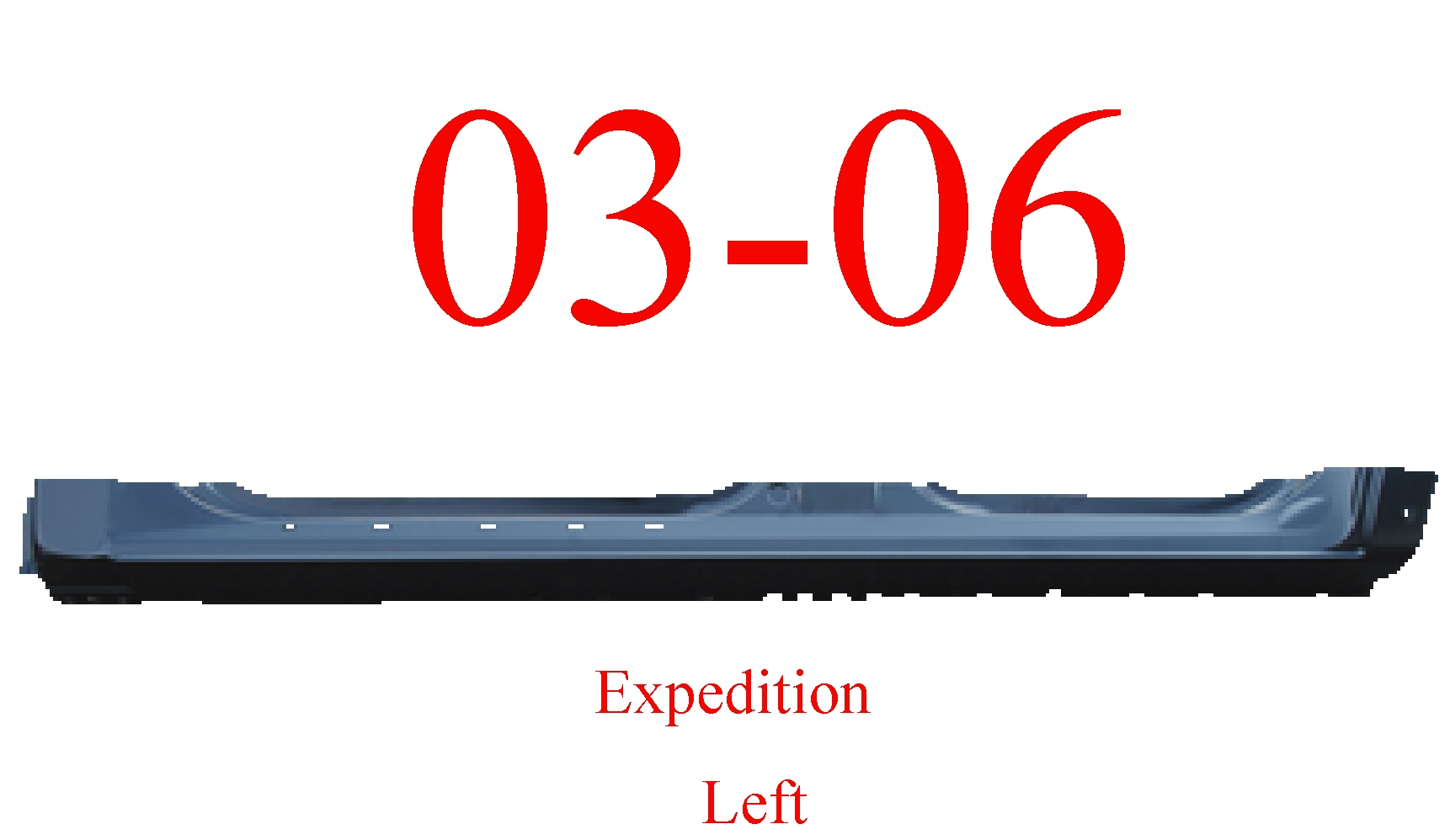 03-06 Ford Expedition Left Extended Rocker Panel