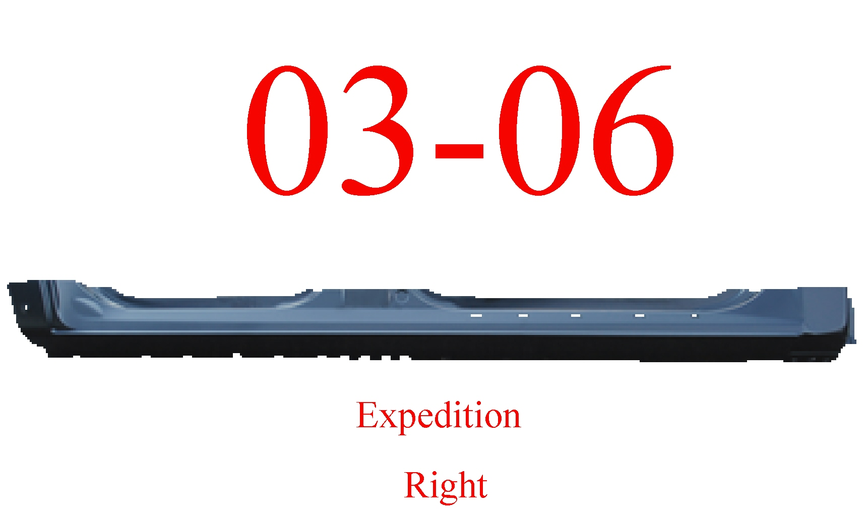 03-06 Ford Expedition Right Extended Rocker Panel