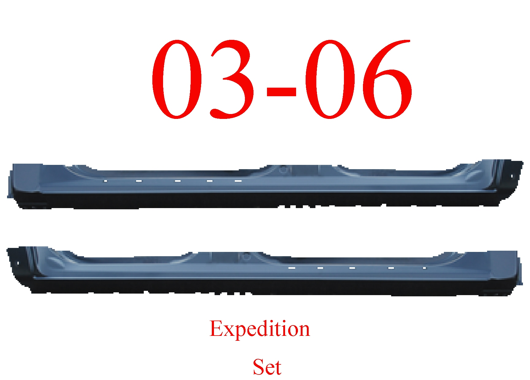03 06 Ford Expedition Extended Rocker Panel Set