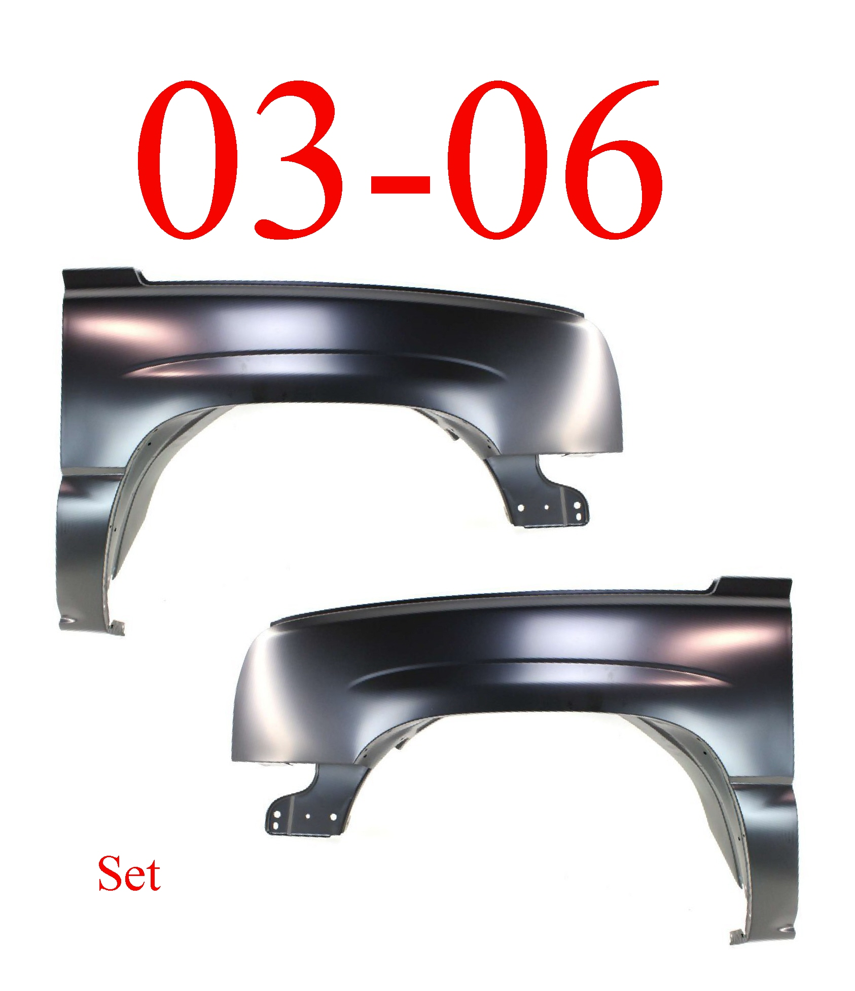 03-06 Chevy Silverado Front Fender Set