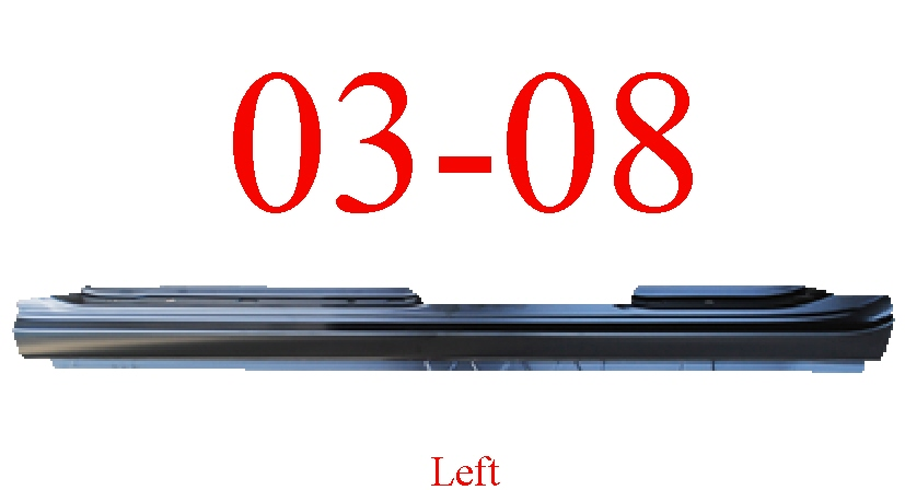 03-08 Toyota Corolla Left Extended Rocker Panel