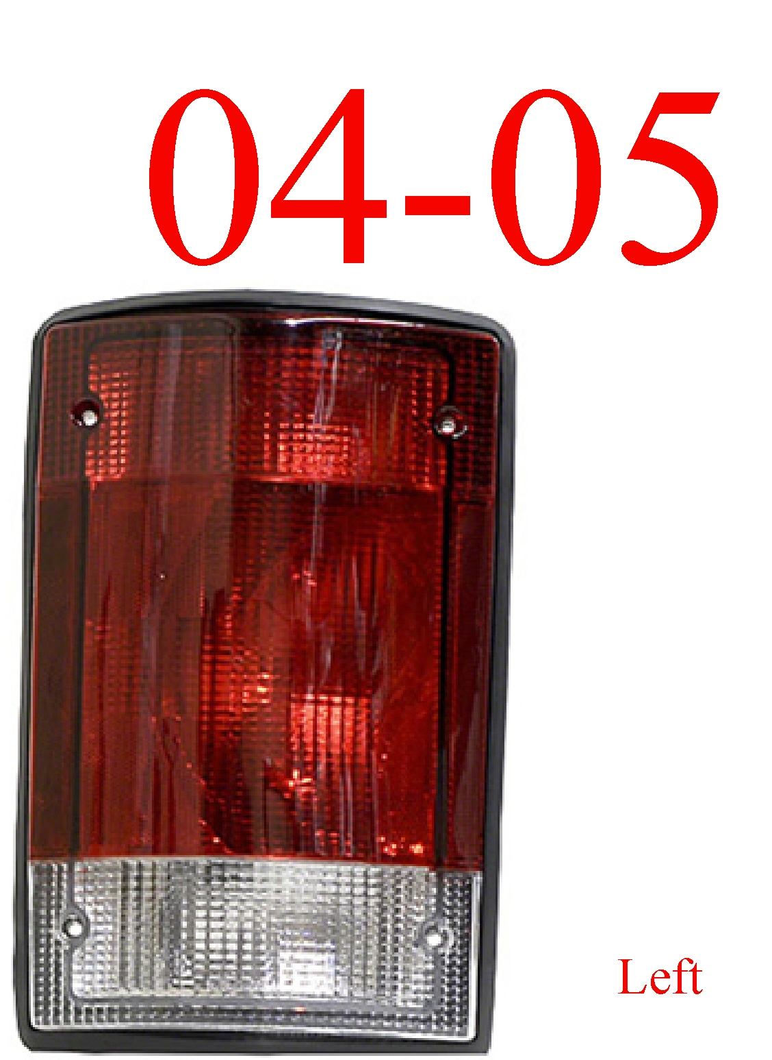 04-05 Ford Excursion Left Tail Light Assembly