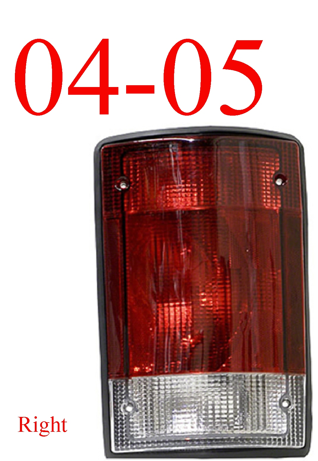 04-05 Ford Excursion Right Tail Light Assembly