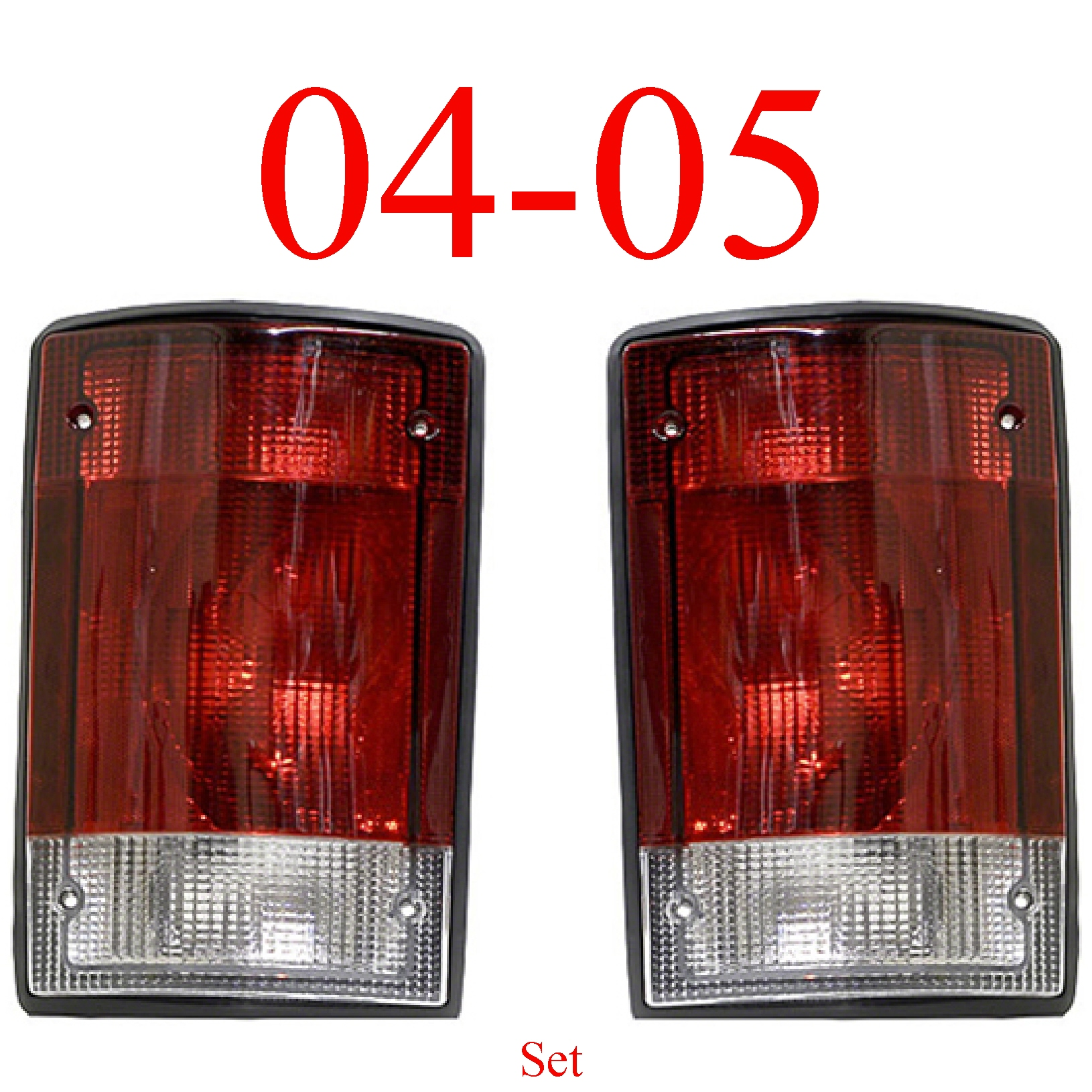 04-05 Ford Excursion Left & Right Tail Light Set
