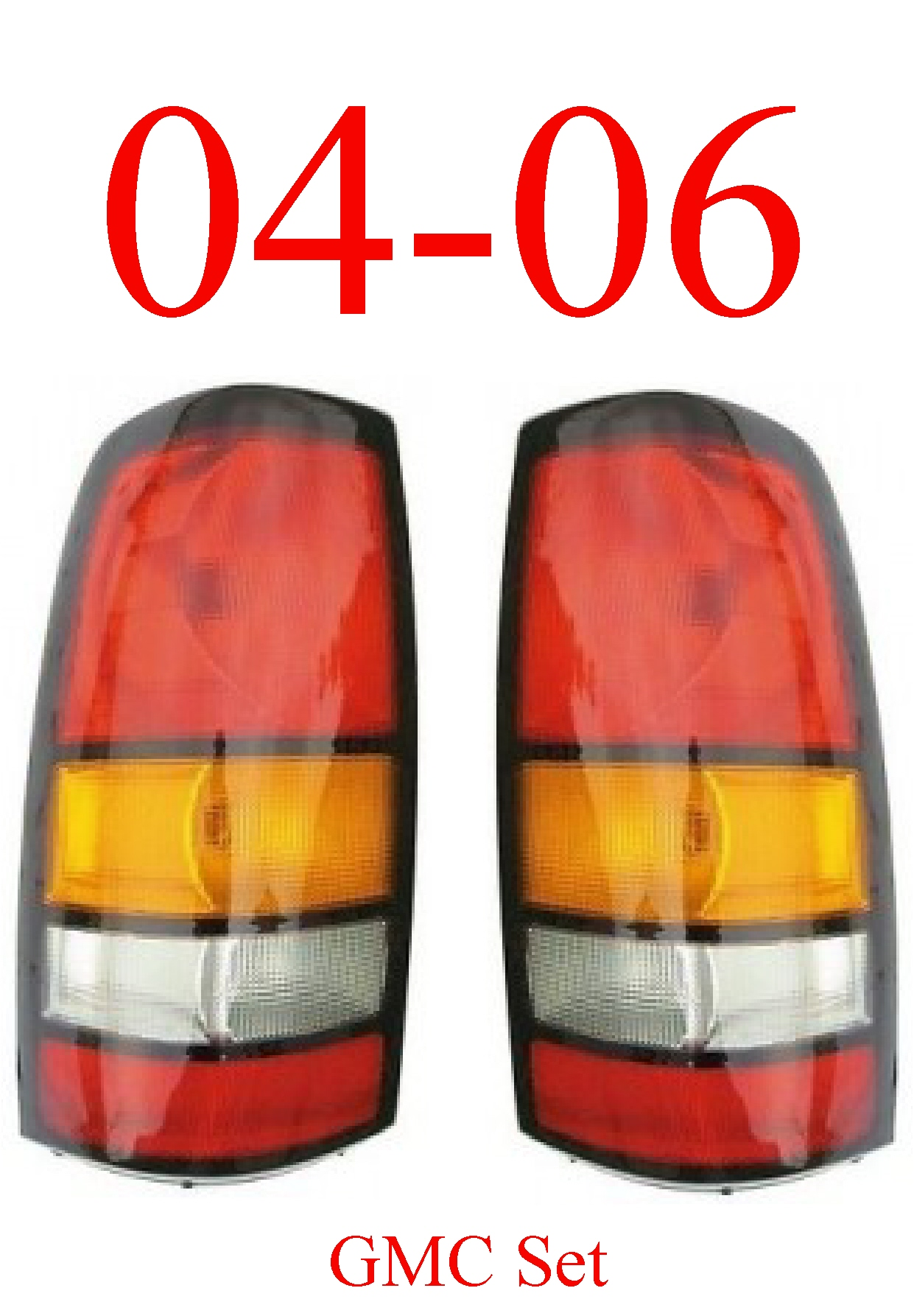 04-06 GMC Truck Tail Light Set Assembly