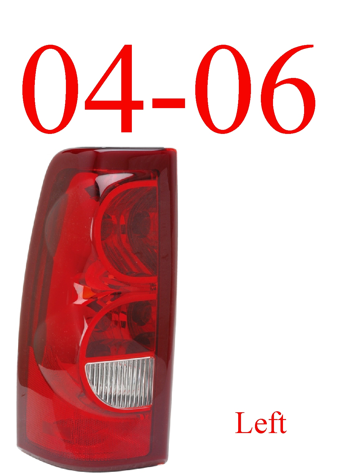 04-06 Chevy Left Tail Light, Silverado